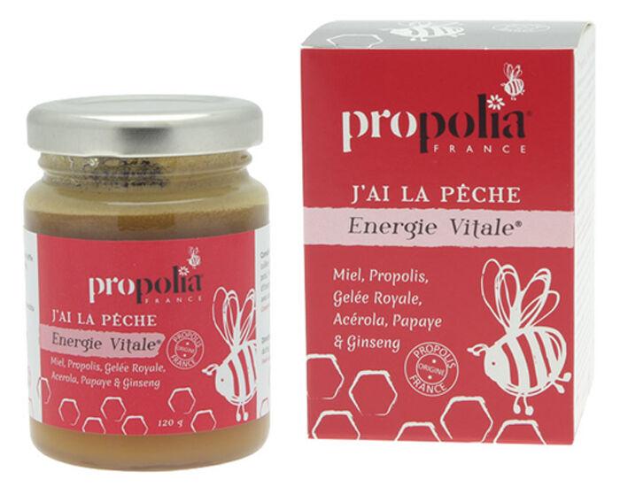 PROPOLIA Complément Alimentaire Energie Vitale - J'ai la Pêche - Pot de 120 g