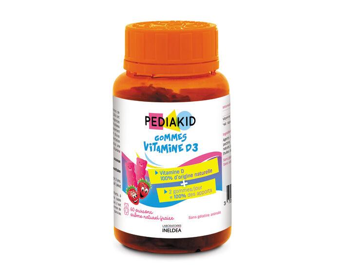 PEDIAKID Gommes Vitamine D3 - Complément Alimentaire - Dès 3 ans
