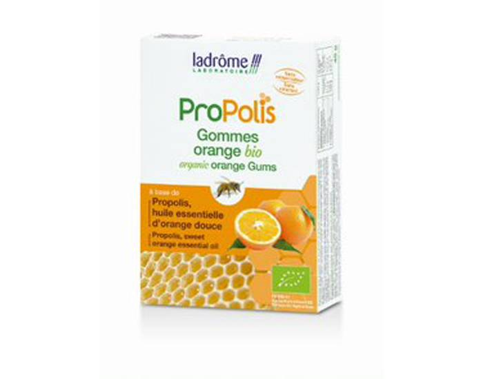 LADRôME LADROME Gommes Propolis Orange Bio- 45 g - Dès 6 ans