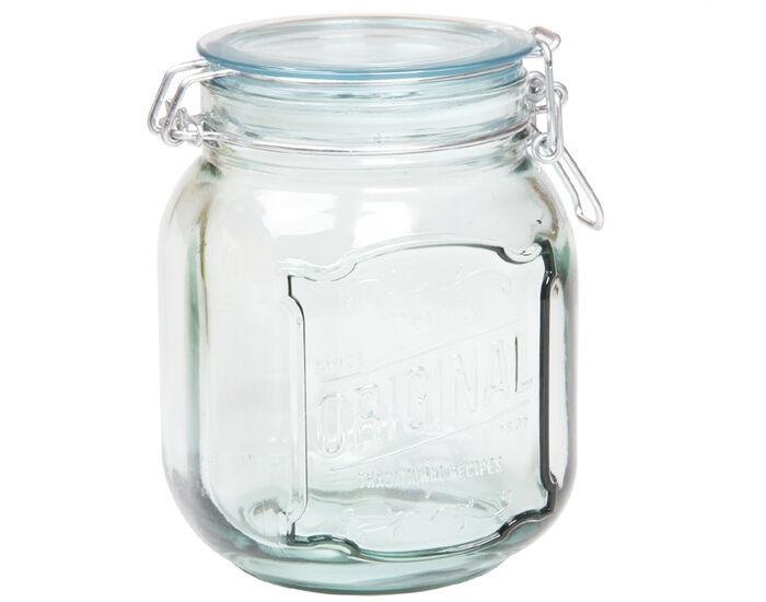 AH TABLE Pot Hermétique en Verre Recylé 1,1 L