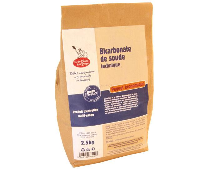 LA DROGUERIE ECOPRATIQUE Bicarbonate de Soude Technique Sac 2.5Kg