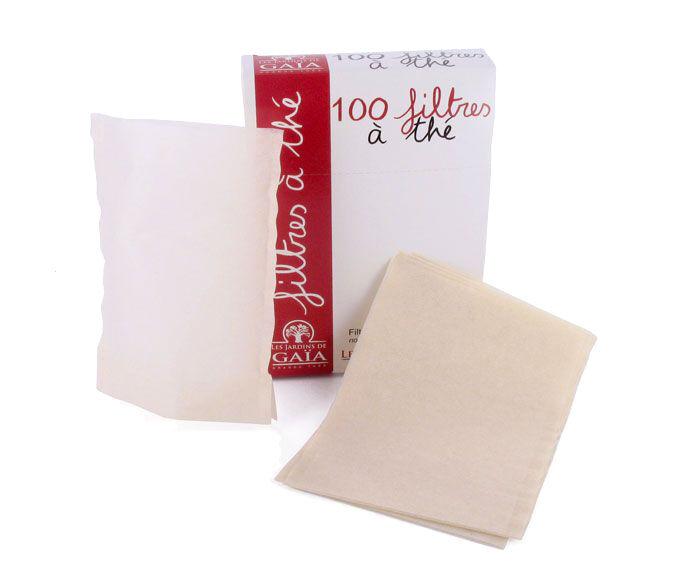 LES JARDINS DE GAIA 100 Filtres à Thé Papier