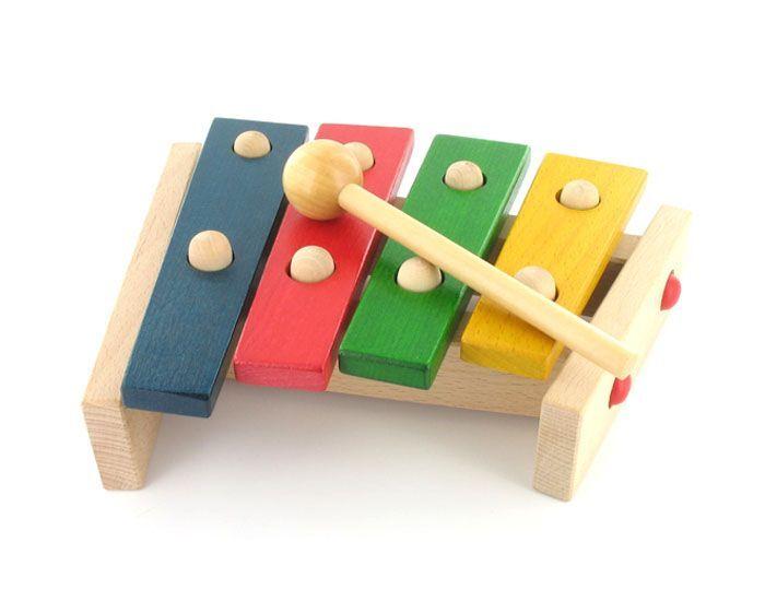 GOKI Xylophone 4 Lames colorées - Dès 12 mois