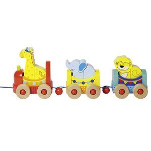 GOKI Train du Cirque à Tirer - Dès 2 ans