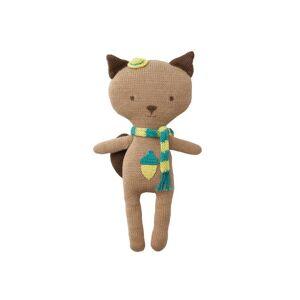 HOPPA Animaux en crochet Cuddly friends Quincy l'écureuil