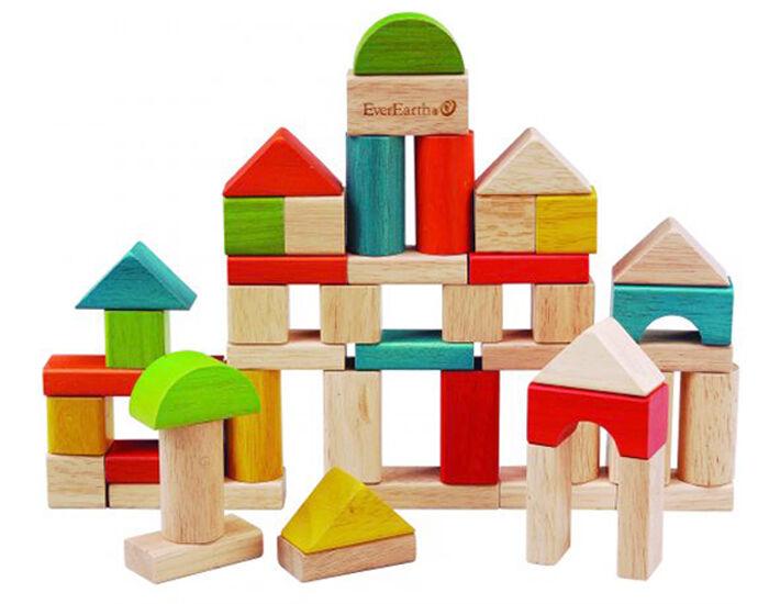 EVEREARTH Boîte de 50 Blocs de Construction - Dès 18 mois