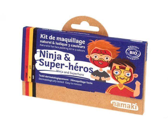 NAMAKI Kit de Maquillage 3 Couleurs - Ninja et Super-héros
