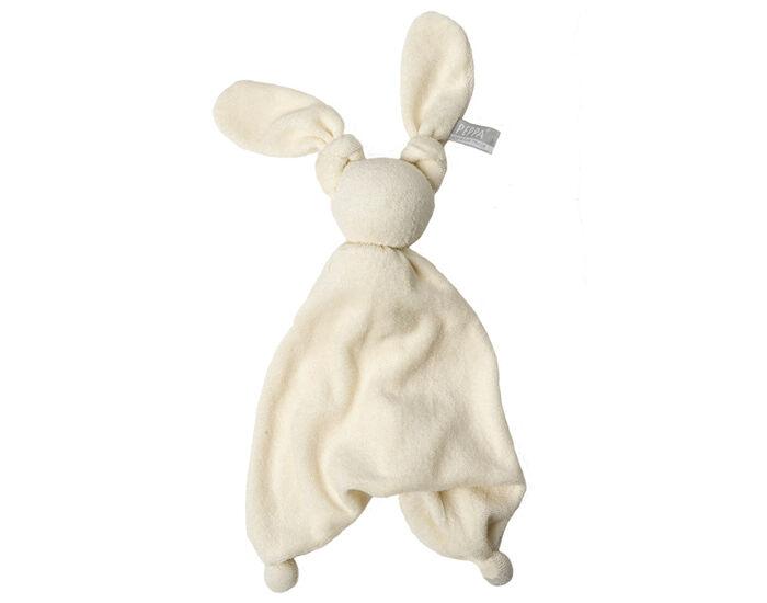 HOPPA Doudou Coton Bio Floppy - Dès la Naissance Blanc
