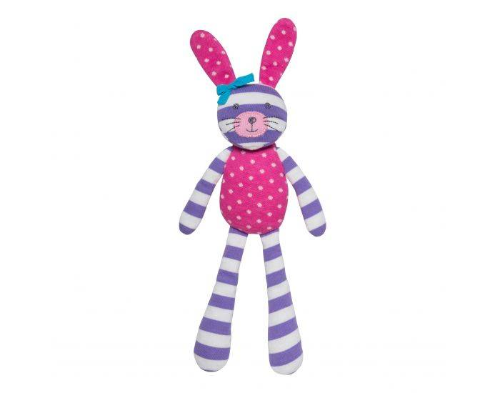 ORGANIC FARM BUDDIES Spring Bunny - Coton Bio - Dès la Naissance Rose Pois/Rayures Violet Blanc