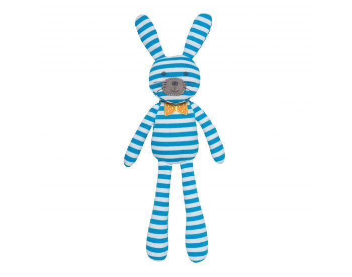 ORGANIC FARM BUDDIES Spring Bunny - Coton Bio - Dès la Naissance Bleu Rayures