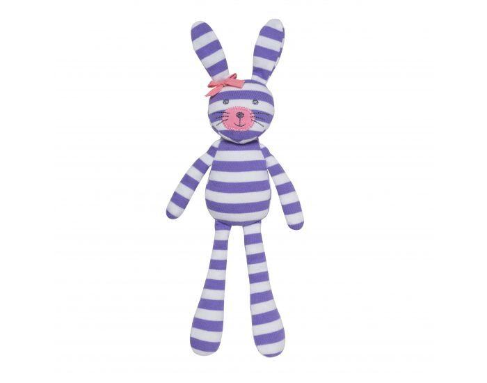 ORGANIC FARM BUDDIES Spring Bunny - Coton Bio - Dès la Naissance Violet Rayures