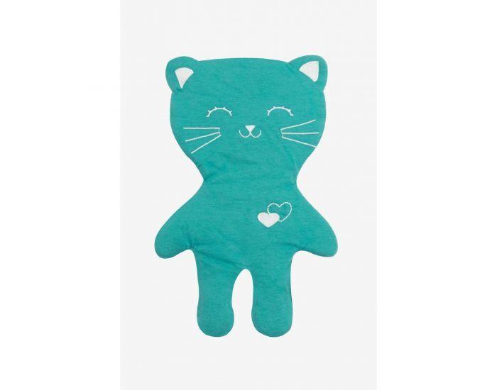KADOLIS Doudou LOULOU le chat en Coton Bio - Dès la Naissance Turquoise