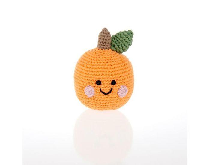 PEBBLE Hochet Orange Equitable en Coton Bio - Dès la naissance