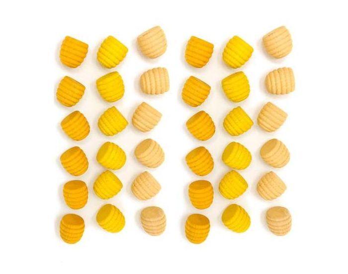 GRAPAT Jouets libres Mandala minis nids d'abeille en bois - Dès 36 mois