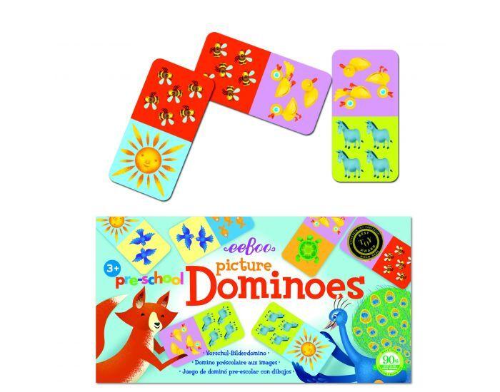 EEBOO Jeu Domino Images - Dès 3 ans