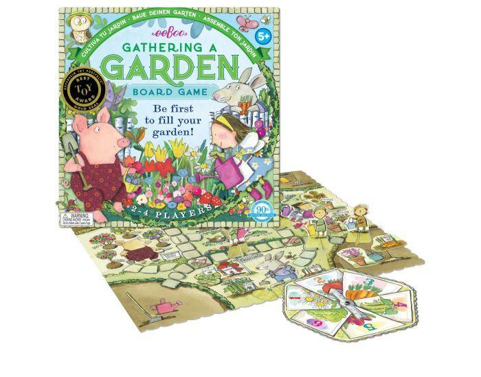 EEBOO Jeu de Plateau - Crée ton Jardin - Dès 5 ans