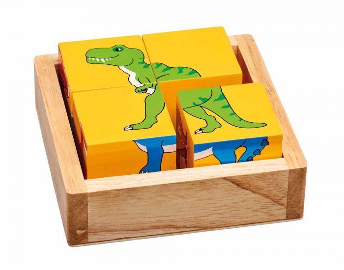 ARTISANS DU MONDE Puzzles Cubes Dinosaures - Dès 1 an.