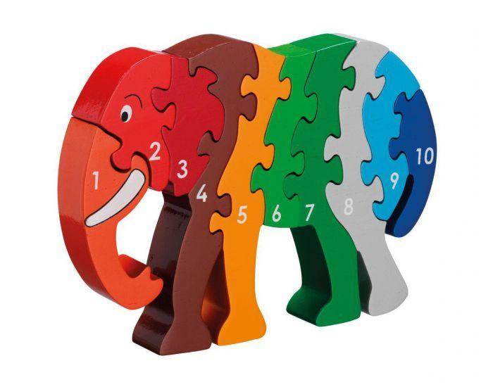ARTISANS DU MONDE Puzzle Éléphant Chiffres - Dès 3 ans.