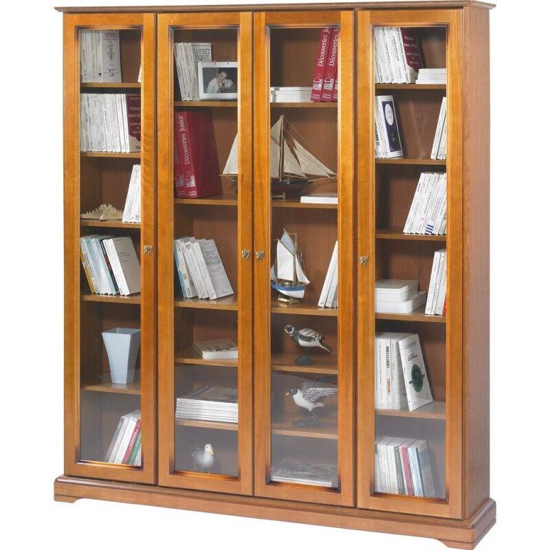 Beaux Meubles Pas Chers Bibliothèque 4 Portes Vitrées Merisier
