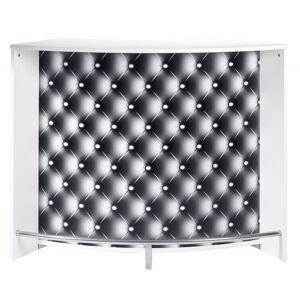 Simmob Meuble Bar, Meuble Comptoir Blanc 135 cm - Publicité