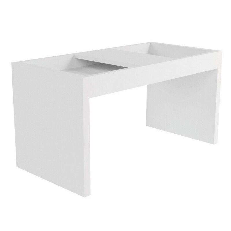 Caemmum Table Basse Rectangle 68 cm Blanche