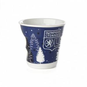Olympique Lyonnais Gobelet Bonhomme de neige froissé REVOL 8 cl  OL - Foot Lyon - Publicité