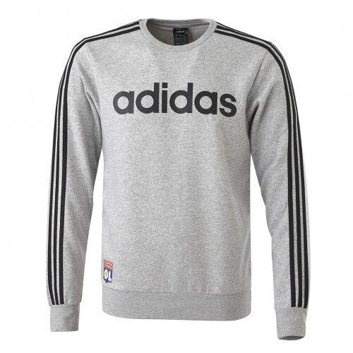 adidas Sweat homme adidas 3 bandes gris  - XS OL - Foot Lyon