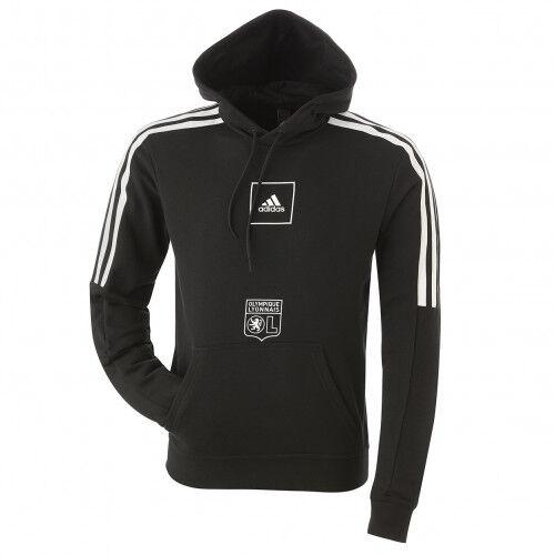 adidas Sweat à capuche noir bandes blanches adidas homme  - 2XL OL - Foot Lyon