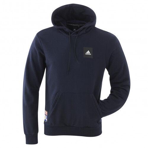 adidas Sweat à capuche bleu marine homme adidas  - L OL - Foot Lyon