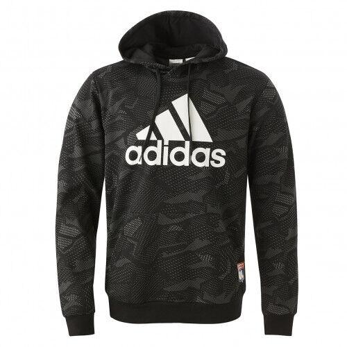 adidas Sweat-shirt à capuche Essentials Allover Print  - 2XL OL - Foot Lyon