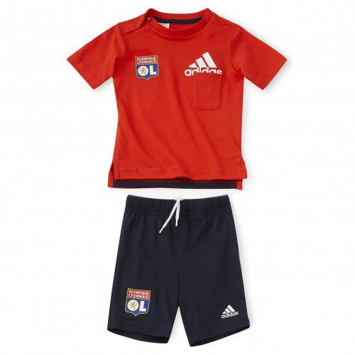 adidas Ensemble bébé bleu et rouge  - 2-3A OL - Foot Lyon