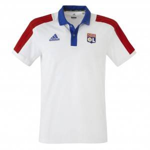 adidas Polo Adulte Tricolore 18/19  - S OL - Foot Lyon