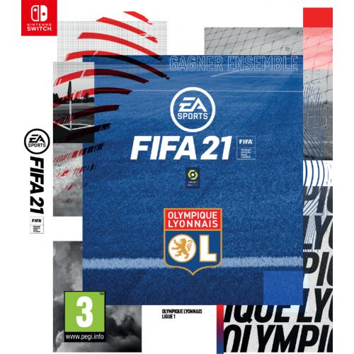 Olympique Lyonnais Jeu FIFA 21 Nintendo Switch + Fourreau Olympique Lyonnais OL - Foot Lyon