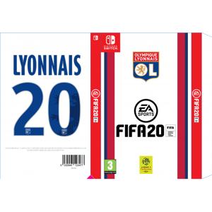 Olympique Lyonnais FIFA 20 Nintendo switch collector Olympique Lyonnais  OL - Foot Lyon - Publicité