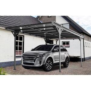 Bouvara Abri voiture en aluminium 5,03 x 3,05 m monopente - Publicité