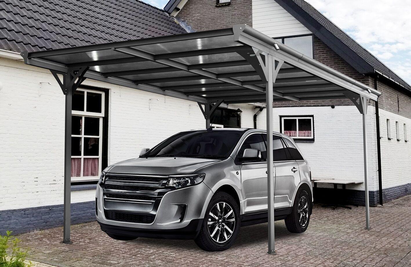 Bouvara Abri voiture en aluminium 5,03 x 3,05 m monopente