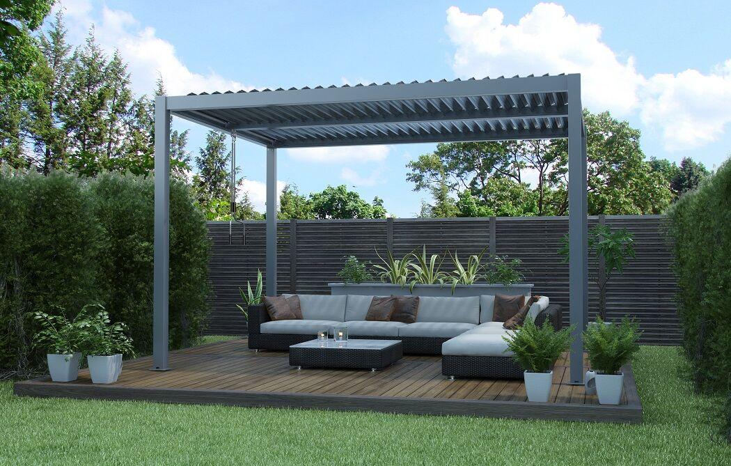 Bouvara Pergola Bioclimatique Luxe 3,60 x 3m double réglage de toit