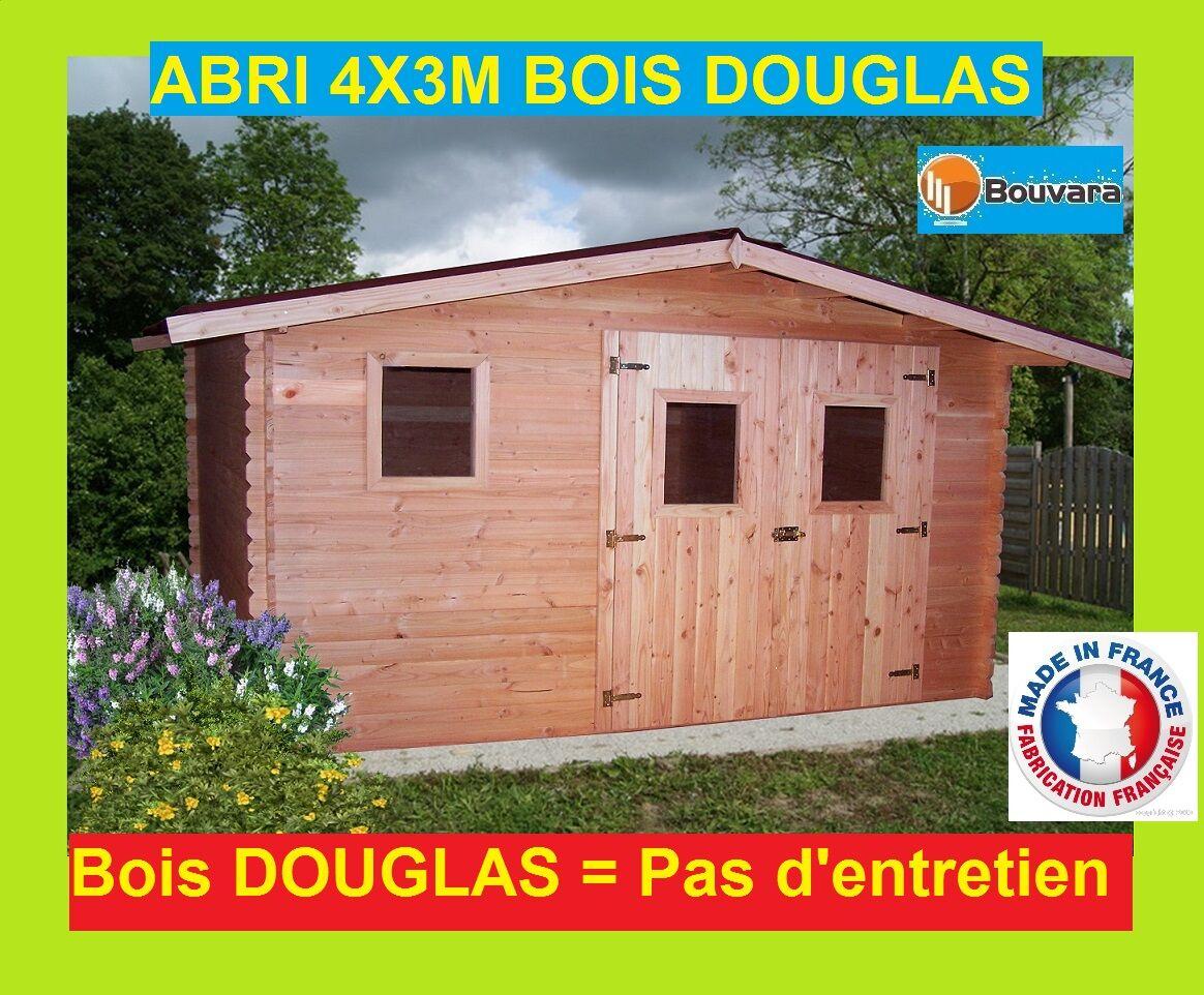 """Bouvara abri de jardin en bois Douglas 4x3m """"ONTARIO"""" 12m2"""