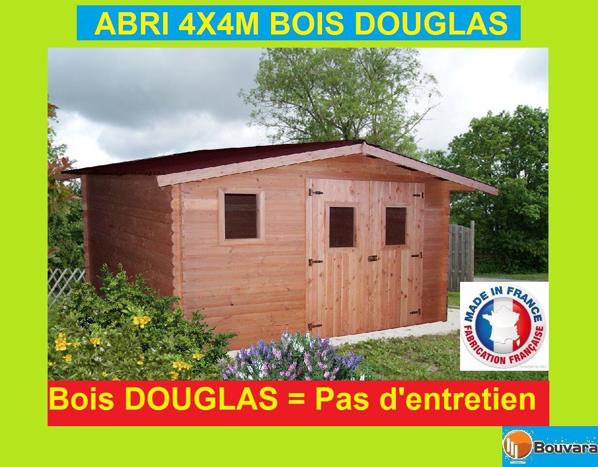 """Bouvara abri de jardin en Douglas 4x4m  """"OREGON"""" 16m2"""