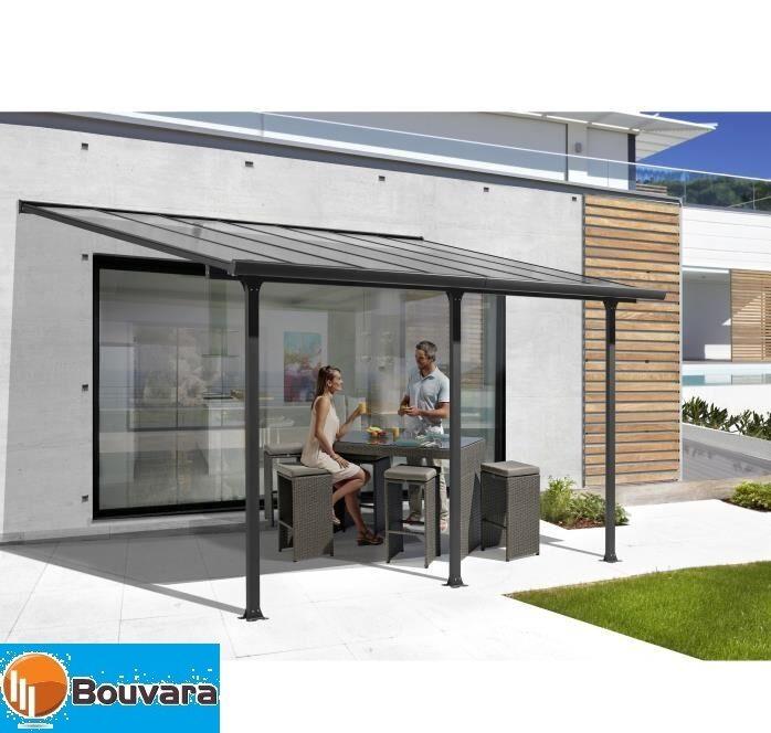 Bouvara Toit terrasse pergola en aluminium 4x3m