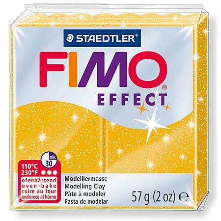 Staedtler FIMO Effect Pâte à modeler, or scintillant, 57 g