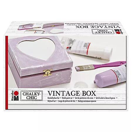 Marabu Chalky Chic Kit créatif « boîte vintage »
