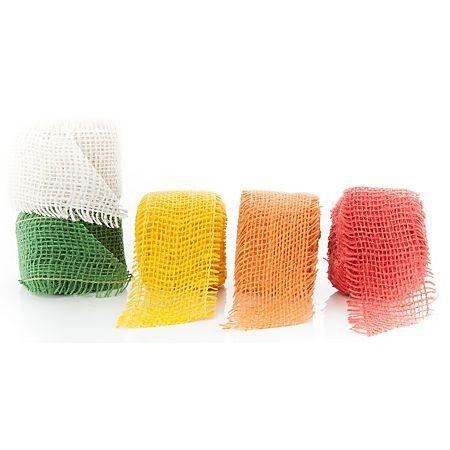 Set de 5 rubans en toile de jute, couleurs standard