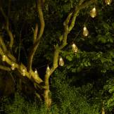 Cémonjardin Guirlande lumineuse solaire 10 ampoules Spirale