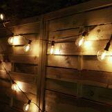 Cémonjardin Guirlande lumineuse solaire 10 ampoules ronde Edison