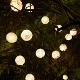 Cémonjardin Guirlande lumineuse solaire 20 lanternes