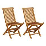 Cémonjardin 2 chaises Baya - Teck Huilé