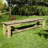 Cémonjardin Banc de jardin 3 places en bois traité autoclave, Normand