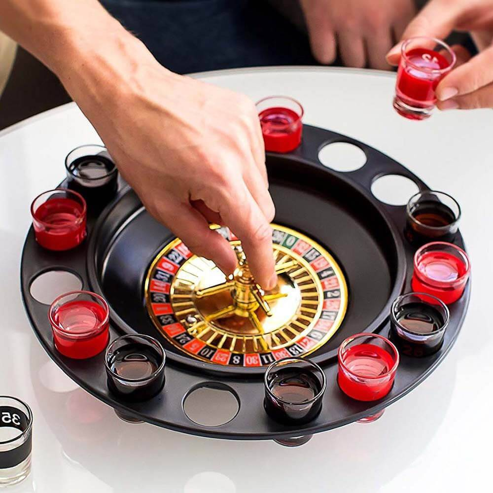 Jeu d'Alcool Roulette de Casino