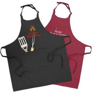Tablier barbecue brodé - Publicité